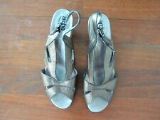 Arche Metallic Bronze Leather Slingbacks Sandals Shoes sz 40