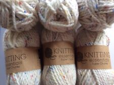 Job Lot Of Supper Chunky 6/50grams Knitting Wool/yarn Oatmeal Fleck Very  Soft