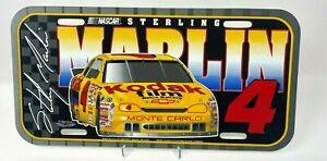 Sterling Marlin Plastic License Plate