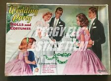 "1956 SAALFIELD ""WEDDING PARTY DOLLS AND COSTUMES"" #6076 6 PAPER DOLL SET IOB"