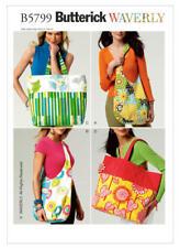 Butterick Sewing Pattern Craft B5799 Bag Market Shoulder Shopping Reusable Bags