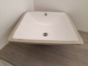 ~~~GREAT PRICE~~~ 😃 Undercounter Square Inset Basin White Ceramic - End of line