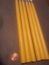 """24 Candles 5/8"""" Organic Beeswax 8"""" Long hand dipped"""