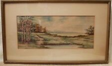 1908 Watercolor Painting By Artist  Albert Haubrich   from Robert Lewis Florida