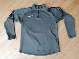 Nike Dri Fit Mens 1/4 Zip Long Sleeve Running Training Top Size XL
