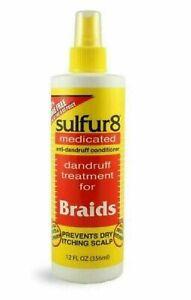 Sulfur8 Medicated Anti-Dandruff Conditioner for Braids Spray - 356ml/12oz