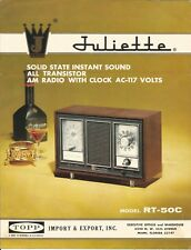Brochure-JULIETTE 5 transistor AM radio RT 50C,TOPP Import,Export,Miami,FL,CA,NY