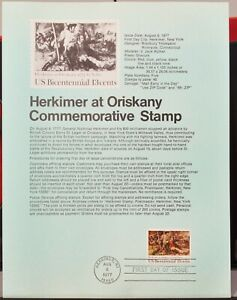 USPS 1977 First Day Issue Souvenir Page, Herkimer at Orisknay - $0.13