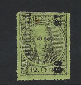 MEX 1868 12c #66 MORELIA 10-69  (H3029)