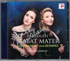 Sonya YONCHEVA Signed PERGOLESI: STABAT MATER Karine Deshayes CD Mancini Durante