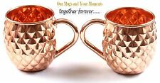 Copper Mugs, Tropical Treat, Unlined 16 Oz Capacity, Set of 2, 100% Copper