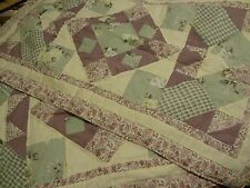 Domestications twin quilt lavender and dusty green with shams