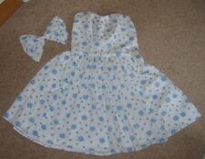 Ladies Girls Vintage Style 1950's Rock N Roll Floral Print Cotton Dress Bow 6-8