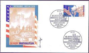 BRD 1997: Marshallplan 50 Jahre FDC der Nr 1926 mit Bonner Sonderstempeln! 21-09