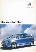 VW Golf Plus Prospekt 2004 11/04 brochure Autoprospekt prospectus broszura Auto