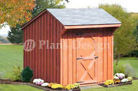 6' x 6' Playhouse Or Garden Storage Shed Saltbox Roof Style Plans #70606