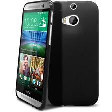 Coque housse Pour HTC One 2 (M8) Semi Rigide Gel Extra Fine mat/brillant Noire O