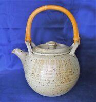 MICHAEL CASSON Studio Stoneware Pottery - Hand Thrown TEA POT - Excellent