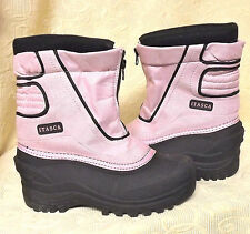 Girls ITASCA Winter SNOW/RAIN  BOOTS/SHOES Pink/Black Youth Size 5