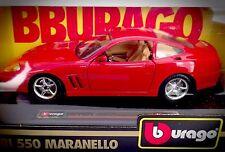 Vintage Diecast Burago Red Ferrari 550 Maranello - 1564 - 1:24