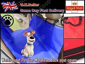 Waterproof Pet Dog / Cat Car Vehicle Mat Rear Back seat cover Protector Mats