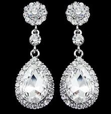New Women's Crystal Vintage Drop Dangle Rhinestone Ear Stud Earrings Jewelry F