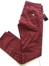 NWT $225 Emporio Armani Mens Slim Fit Red Jeans Pants Size 33/32 US 3Z1J06