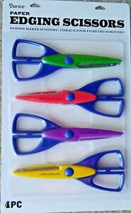 Craft Paper Border Edging Scissors 4 Pack Starter Set - Waves, Curves & Zig Zag