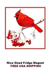 304 - Red Bird Cardinal Refrigerator Fridge Magnet