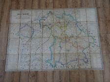 Landkarte - Königreich Bayern + Süd-West-Deutschland  1844 - München - Rarität