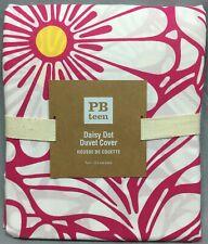 Pottery Barn PB Teen Pink Magenta Daisy Dot Twin Duvet Cover