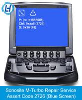 Sonosite M-Turbo Repair Service - All Assert Code 2726, 2720, 2719,16868, 11409
