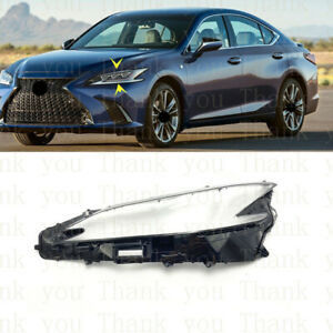 Left Side Lucency Headlight Cover With Glue For Lexus ES250 E300 E350 2018-2020s
