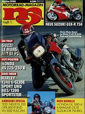 mo 1/88 1988 Kawasaki VN 1500 Vulcan GPX600R Moto Guzzi Le Mans V GSX-R 750 FLHS