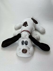 Vtg 1985 Pound Puppy White With Brown Spots Brown Nose (Full Size) Tonka Corp.