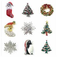 *UK Shop* XMAS BROOCH PIN BADGE SECRET SANTA GIFT PRESENT MERRY CHRISTMAS TREE