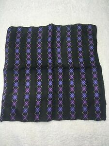 """MENS POCKET SQUARE HANDKERCHIEF POLYESTER 8.5"""" X 8.5"""" PURPLE AND LILAC"""