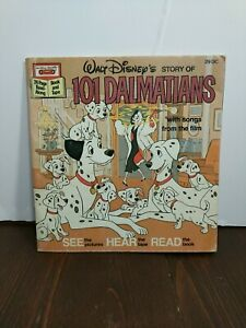 Vintage Walt Disney's Story Of 101 Dalmatians Book Only