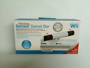 NEW Sealed WIRELESS Sensor SWIVEL Bar FOR WII AND WII U Sensor Bar