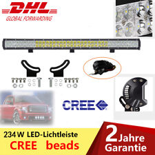 "234W 36"" Cree Led Arbeitsscheinwerfer Lichtbalken 12V 24V Light Bar + Kabelbaum"