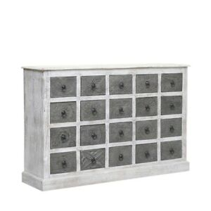 Clovelly Indian Reclaimed Wood Dual Tone Chest Of Drawers (MADE TO ORDER)