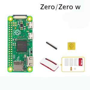 Raspberry Pi Zero W zero Kit Red/White Case with Camera Cable Heatsink Pin