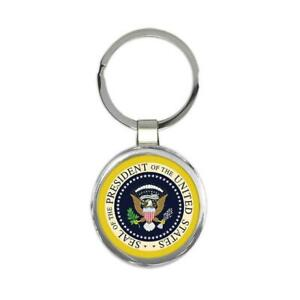Gift Keychain : Presidential Seal American Patriot Trump USA United States