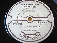 "GORDON GILTRAP - HEART SONG / WEARY EYES  7"" OLD GOLD VINYL"