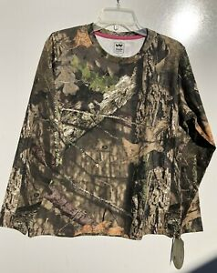 Walls Women's Long Sleeve Camo T-Shirt Mossy Oak (S,L)