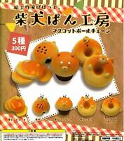 (Capsule toy) Pobotto Shiba Inu mascot ball chain [all 5 sets (Full comp)]
