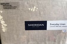Sheridan Everyday Linen Quilt Cover Set - Flax King Deals / Mother's Day Gift Ideas