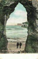 Vintage 1900-1910 Scenic Postcard Natural Arch, Portrush, N.Ireland (Aug 1905).
