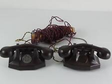 (ref165EO AF) Antique Chad Valley Bakelite Phones Telephones Untested