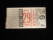 April 29, 1962 Boston Red Sox @ Chicago White Sox Ticket Stub - Doubleheader